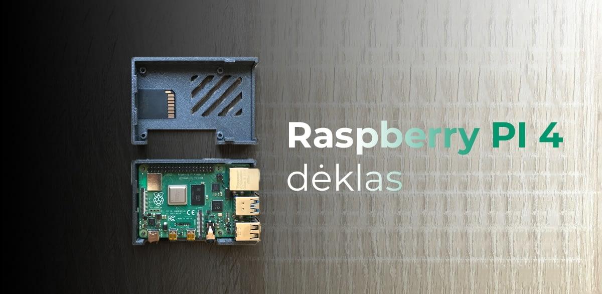 Raspberry pi 4 mikrokompiuterio dėklas 3D spausdinimui